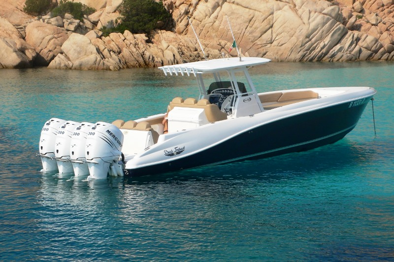DEEP IMPACT 360FSO Quad Merc 300, Euro Company Boat, Sardinia, Italia