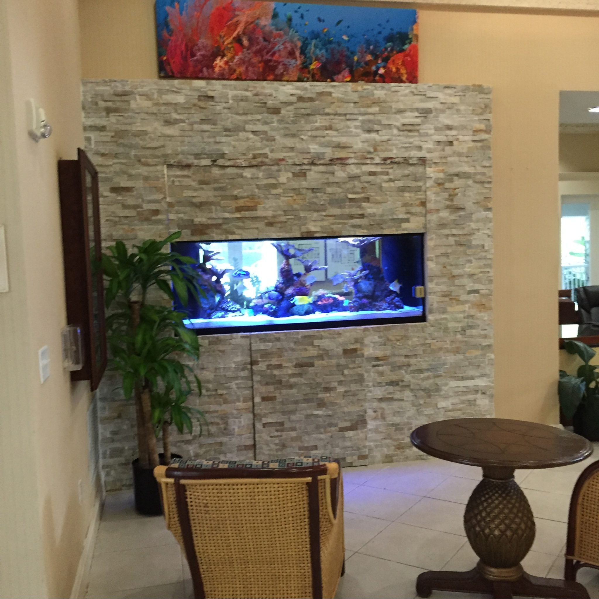 Clubhouse Entry Foyer Aquarium