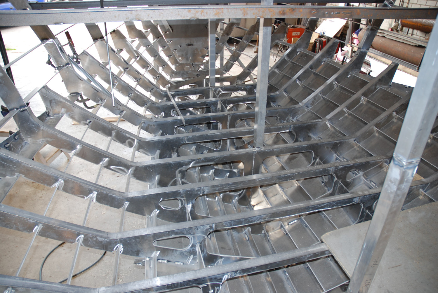 Steel Aluminum Hull Welded Stringer Construction