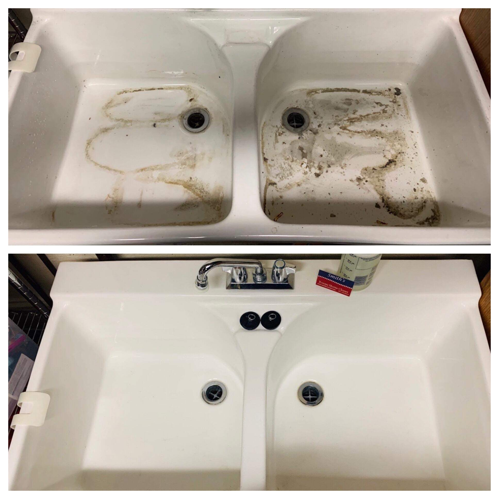 WASH BASIN BEFORE CLEANING & AFTER